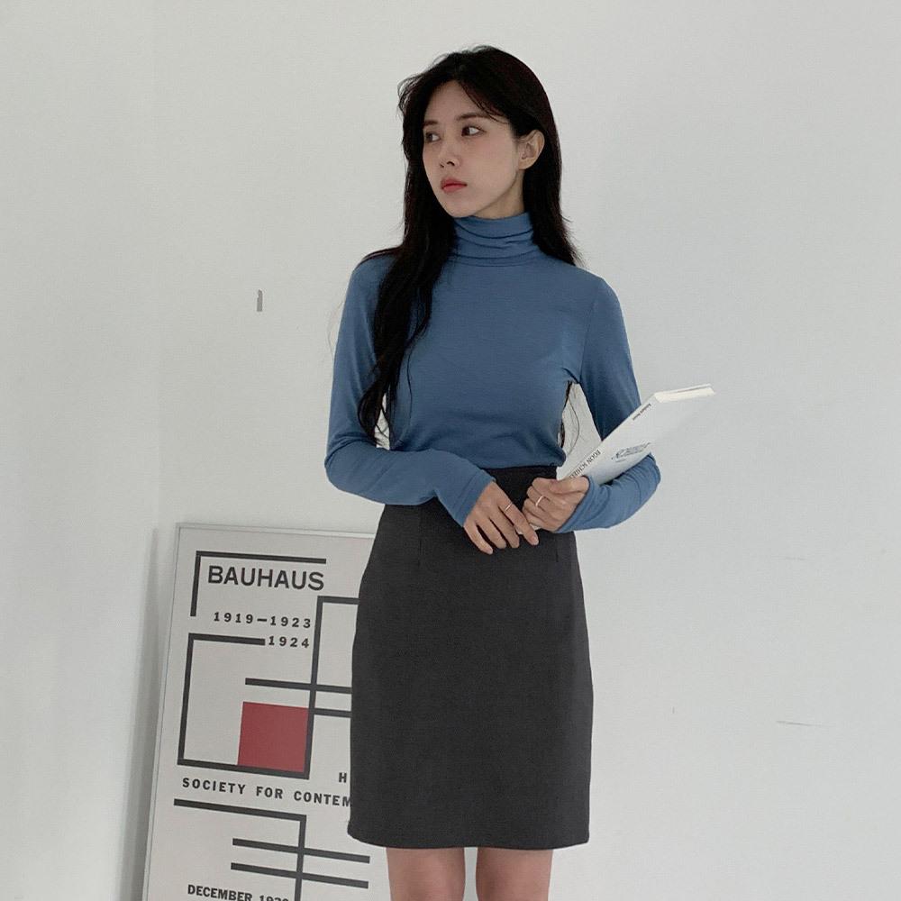 라쉬자 기모 긴팔 폴라 티셔츠