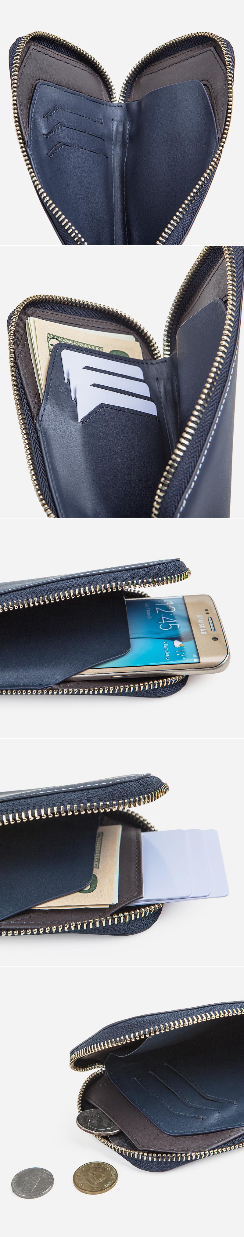 Becore Phone Zipper V2 Blue - 비코어, 89,000원, 여성지갑, 장/중지갑