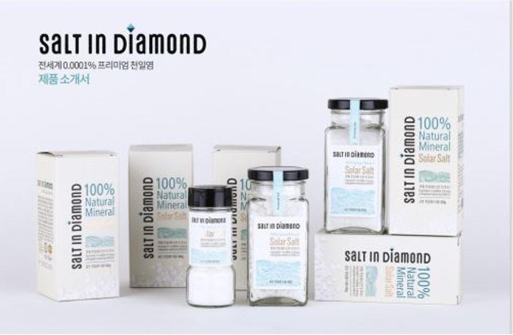 DQSI 솔트 인 다이아몬드 3종 셋트 (굵은 천일염 180g 1개, 고운 천일염 250g 1개, 고운 천일염 90g 1개)