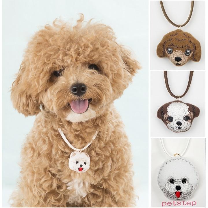 Wm 펫스텝 강아지 얼굴인형 목걸이 (15g)