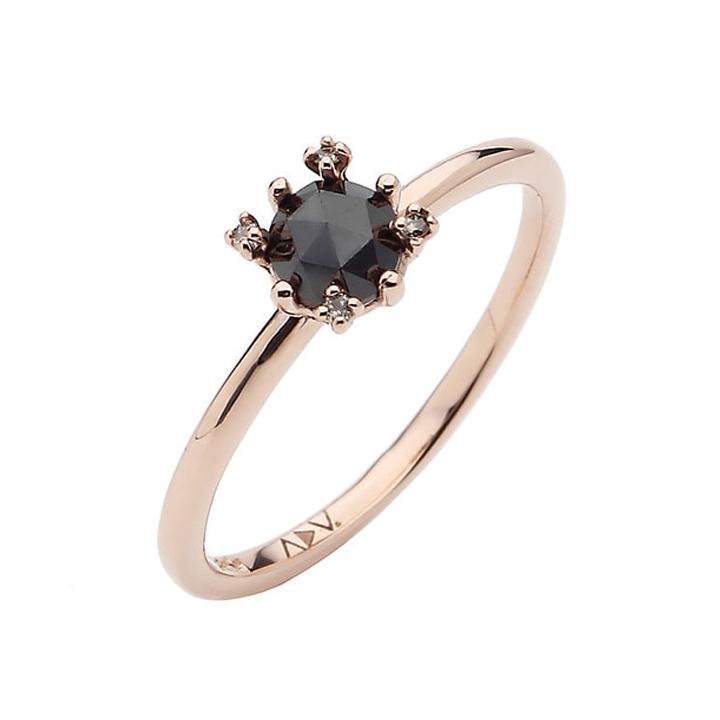 Wm 14k 브레이브 블랙 반지*블랙다이아몬드 (14k)