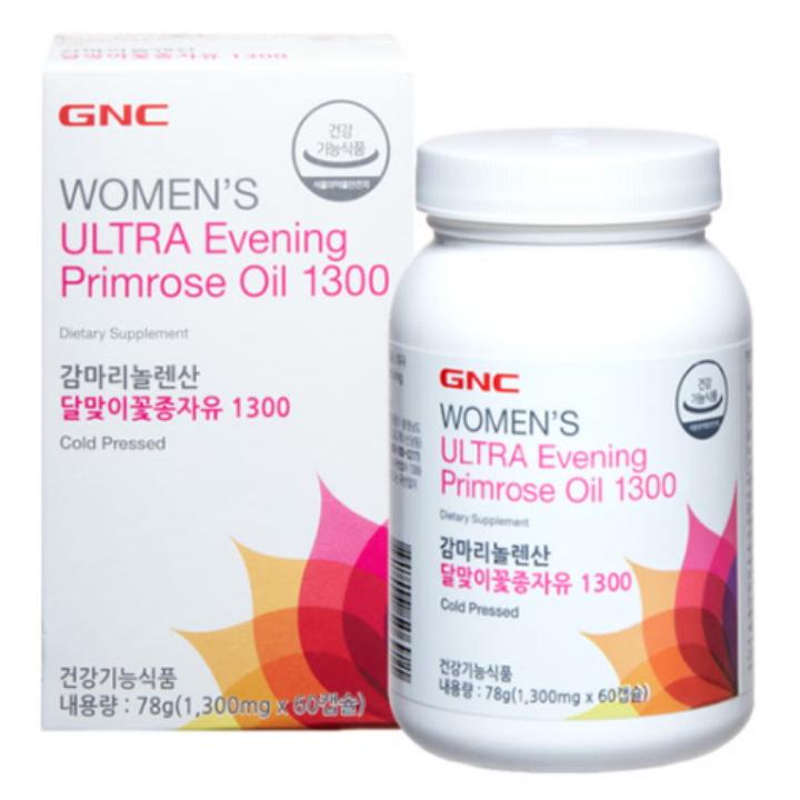 Wm GNC 감마리놀렌산 달맞이꽃종자유1300 (60캡슐) (78g)