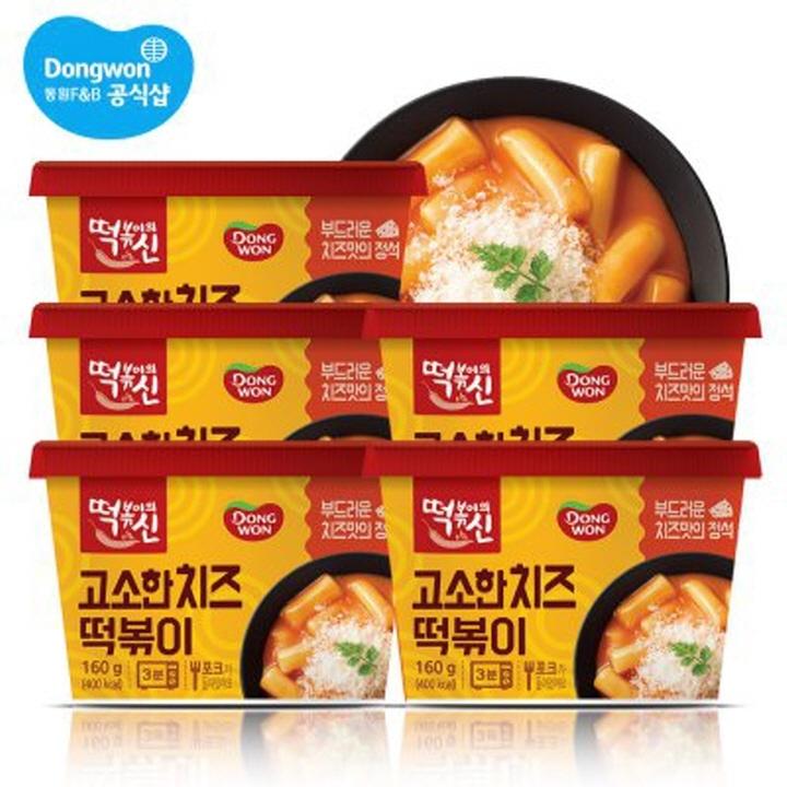Wm [동원] 떡볶이의신 고소한치즈 컵떡볶이 160g * 5개 (160g)