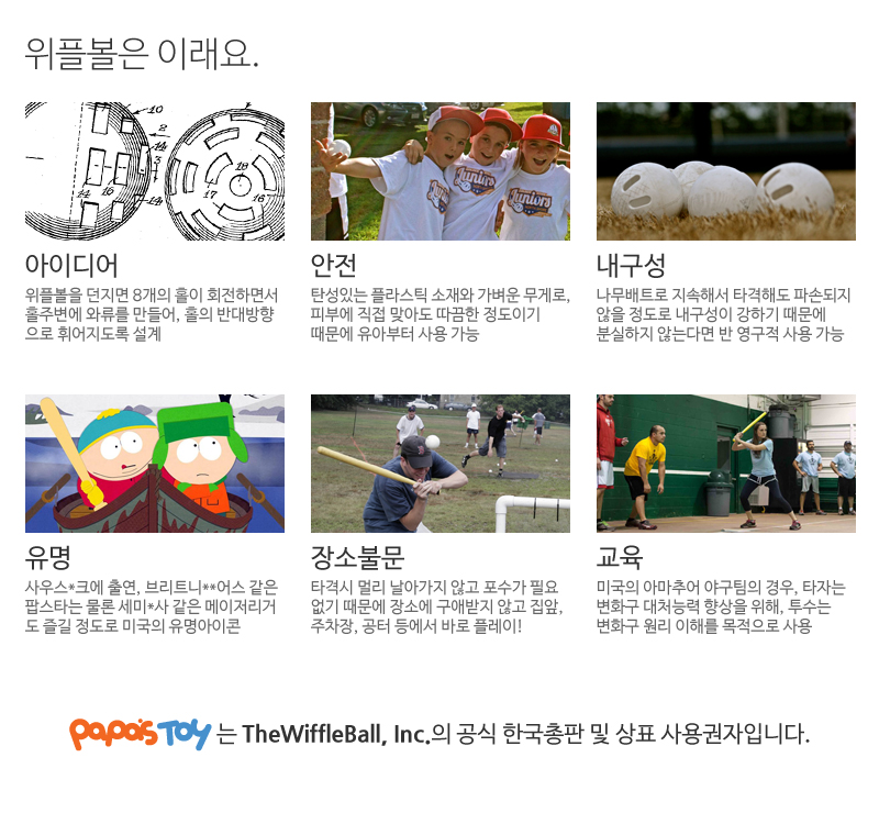 주니어 위플볼 - mini버전 (10세이하 유.아동) 아이에게 마구를 가르쳐주세요/Junior Wiffle - 위플볼, 4,200원, 아이디어 상품, 아이디어 상품