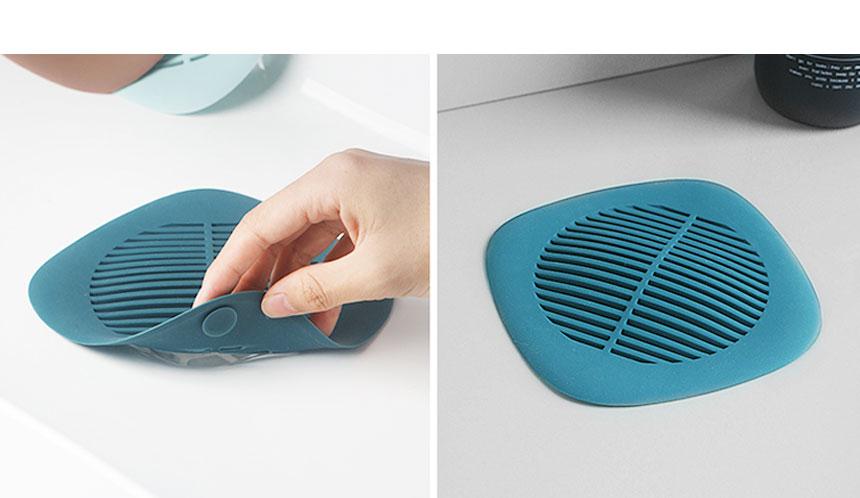 딥 파스텔 실리콘 욕조거름망 - 시나몬샵, 7,400원, 정리용품/청소, 욕실청소용품