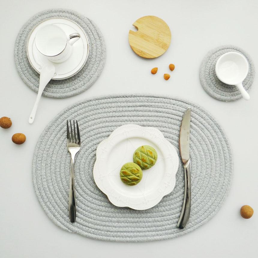 코튼 핸드메이드 테이블매트 원형(소) - 시나몬샵, 2,400원, 식탁, 식탁매트