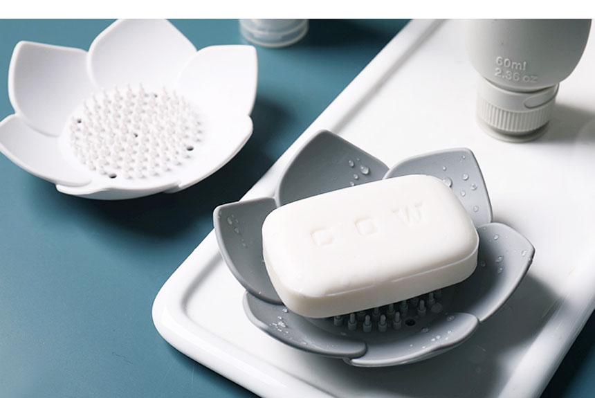 플라워 실리콘 비누 받침대 - 시나몬샵, 6,400원, 세안/목욕, 비누받침