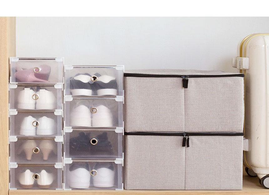 투명 신발 케이스 - 시나몬샵, 8,200원, 수납/선반장, 신발정리대/신발장