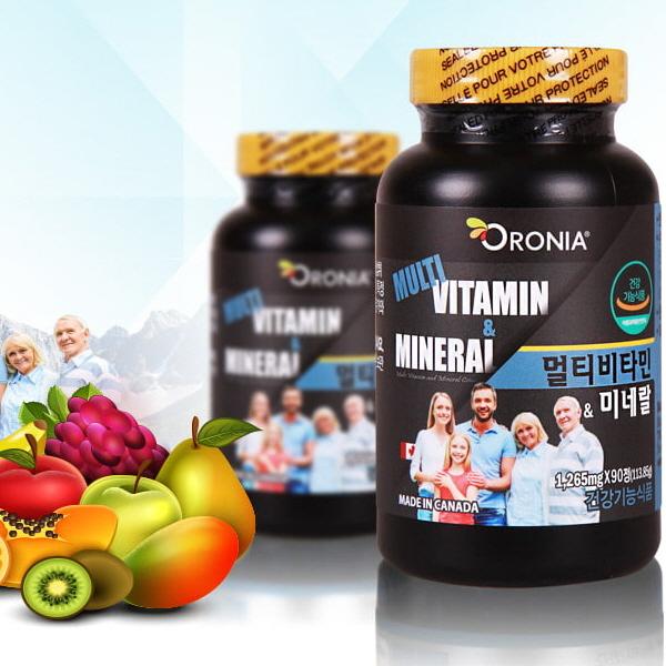 오로니아-성인용 종합비타민&무기질 (90정) 2개