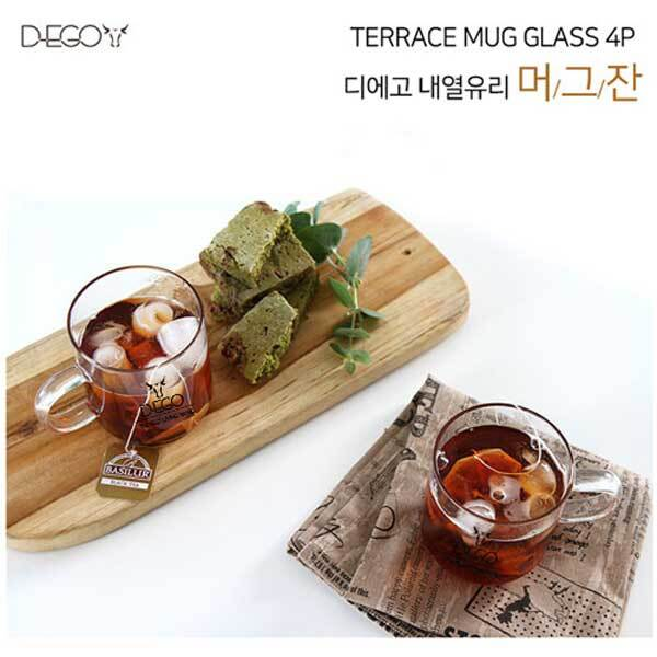[D-EGO] 디에고 테라스 머그잔 4p 세트, D-GLCUP-4P