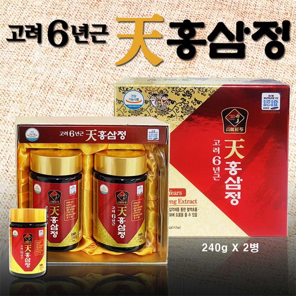 [대한홍삼진흥공사] 고려 천홍삼정 홍삼농축액 240g X 2병
