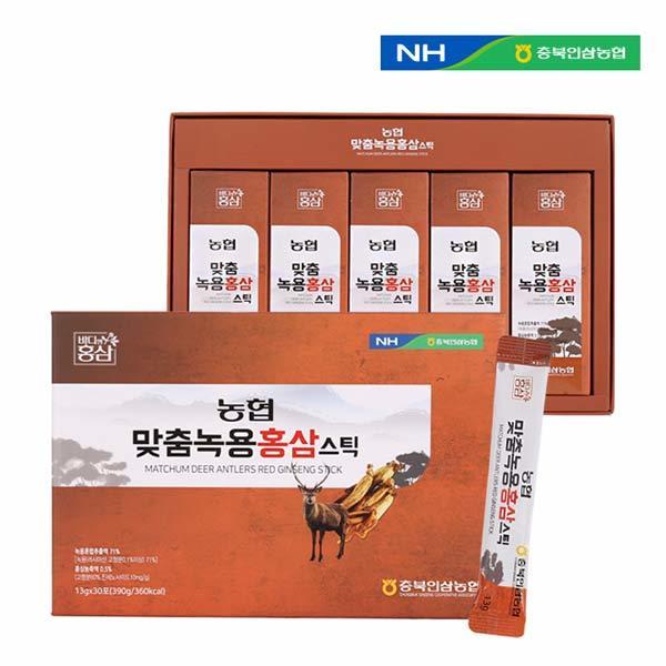 [충북인삼농협] 맞춤 녹용 홍삼스틱 13g X 30포
