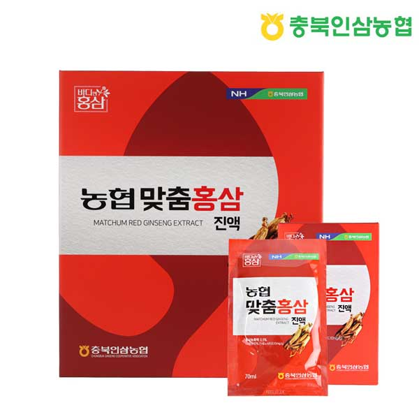 [충북인삼농협] 농협 맞춤홍삼진액 70ml X 30포