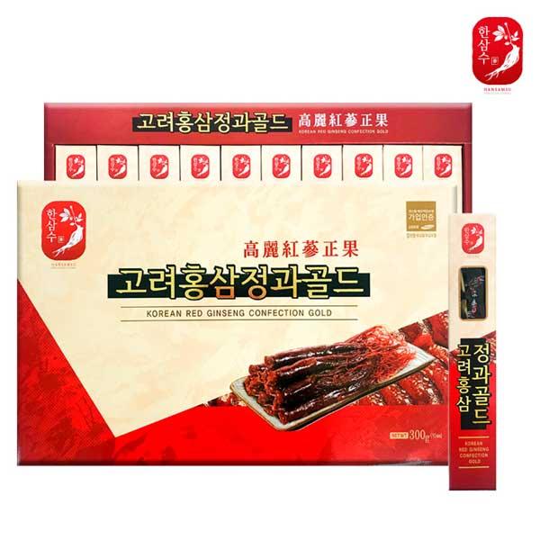 [한삼수] 고려홍삼정과골드 300g (10ea)