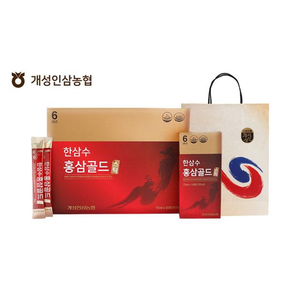 [개성인삼농협] 한삼수 홍삼 골드스틱 15ml x 30포