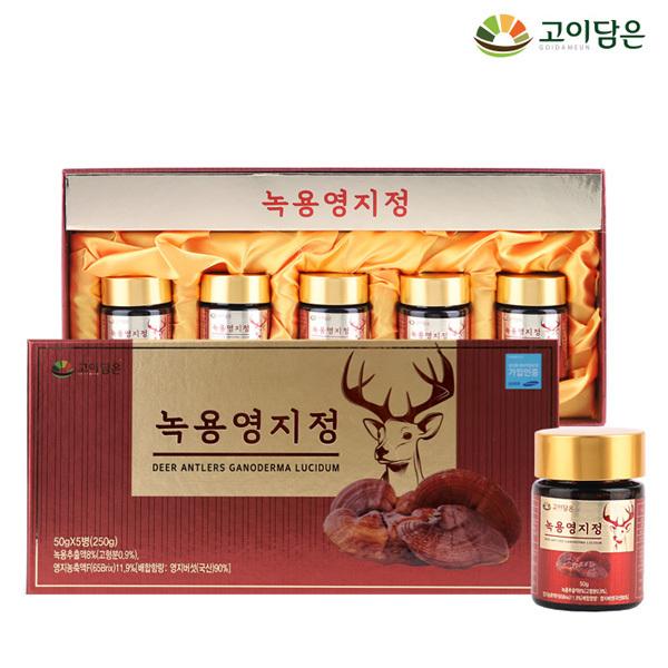 세종바이오팜 [고이담은] 녹용영지정 50g x 5병