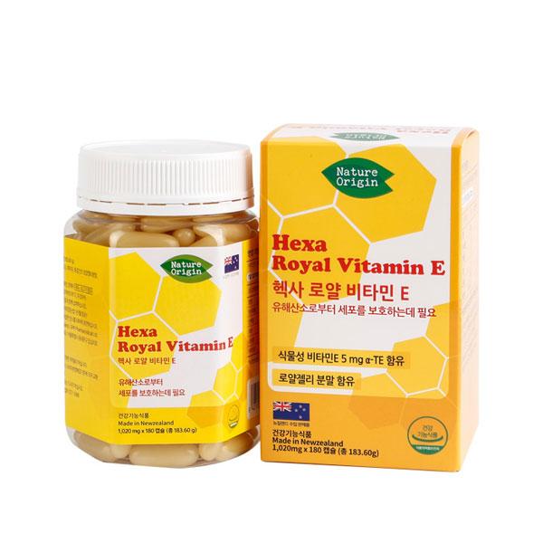 [네이처오리진] 헥사 로얄 비타민E 1,020mg X 180캡슐