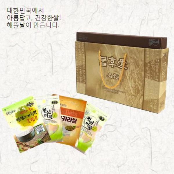 [해뜰날] 불후애명곡 4종 잡곡선물세트 2호(현미,찰흑미,귀리,웰빙15곡) 2.0kg