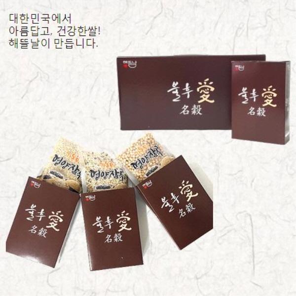 [해뜰날] 불후애명곡 3종 잡곡선물세트 A-3호(현미,찰흑미,찰보리) 0.9kg