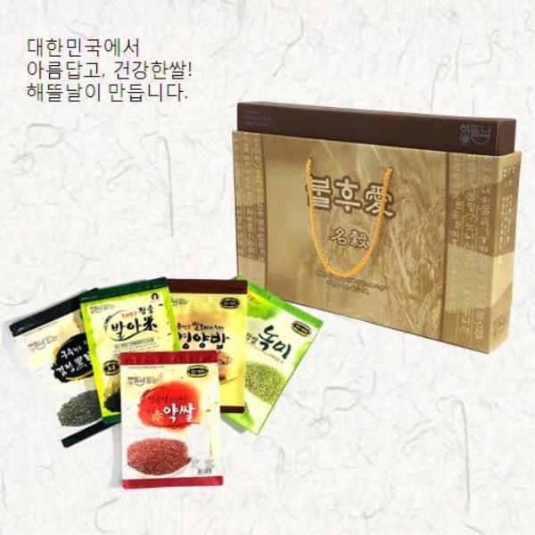 [해뜰날] 불후애명곡 5종 잡곡선물세트 B-2호(발아현미,검정보리,붉은약쌀,녹찰현미,영양혼합20곡) 2.5kg