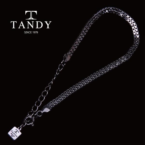[TANDY] 탠디 순은 큐브슬릿 흑진주 팔찌(Sliver 925)