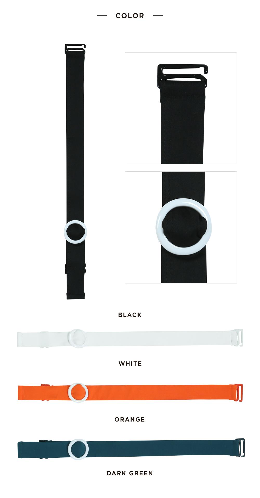 코랄리크(CORALIQUE) 컬러풀 액세서리 어깨끈_블랙/블랙 CO-CA19502KK