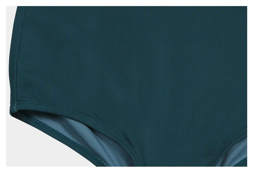 코랄리크(CORALIQUE) 컬러링 집업 래쉬가드 세트 수영복_화이트/그린 CQ-LS19521WE