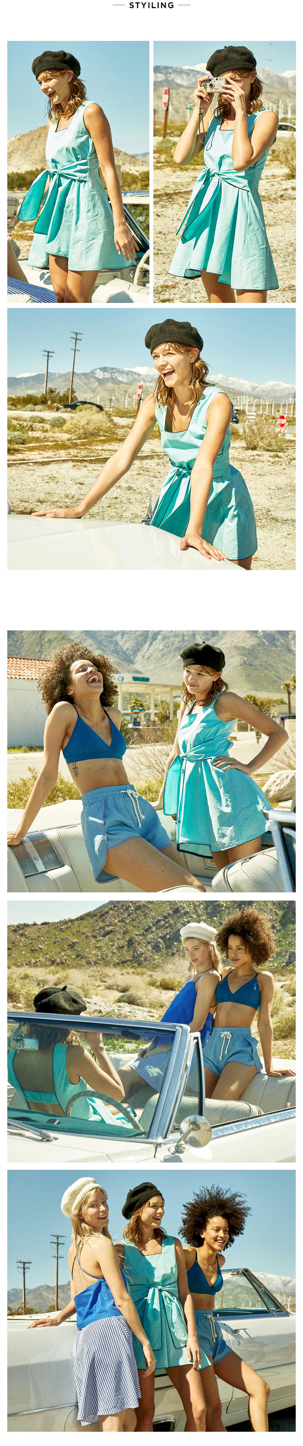 코랄리크(CORALIQUE) 티파니 리본 드레스 원피스 리조트웨어_터키/블랙 CQ-OS19501TK