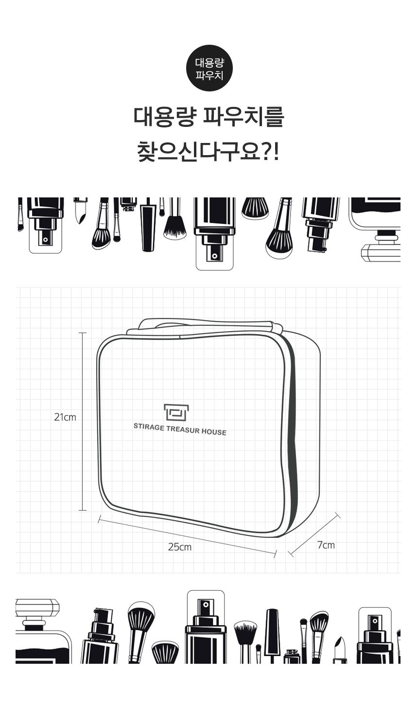 포터블 화장품파우치 메이크업박스 eco-m - 에코팩토리, 16,900원, 메이크업 파우치, 지퍼형