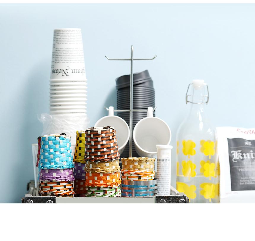 라탄 종이 컵홀더 받침 핸드메이드 5P - 에코팩토리, 7,500원, 생활잡화, 생활소모품