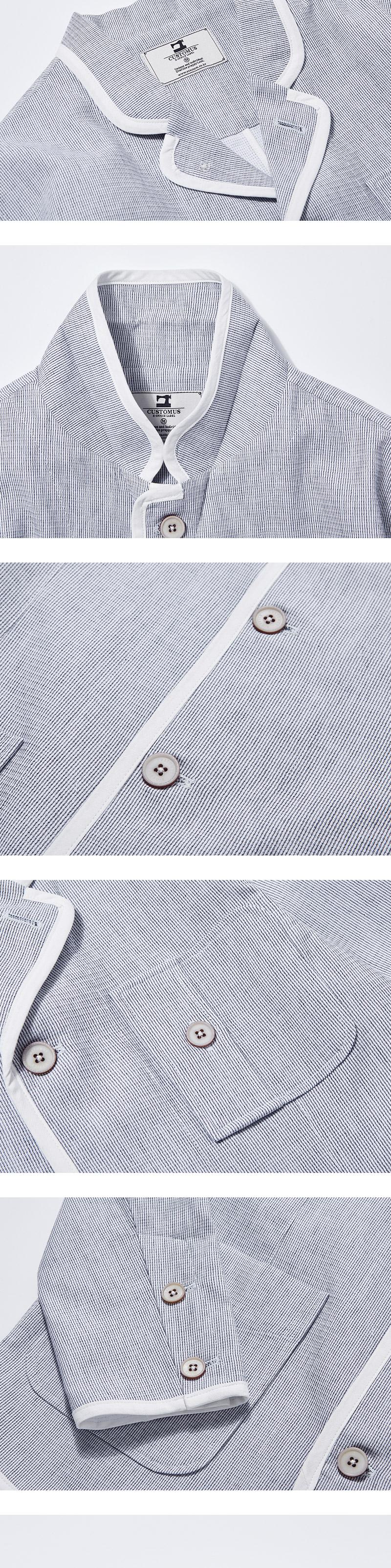 커스텀어스 바인딩 셔츠 자켓 (화이트)