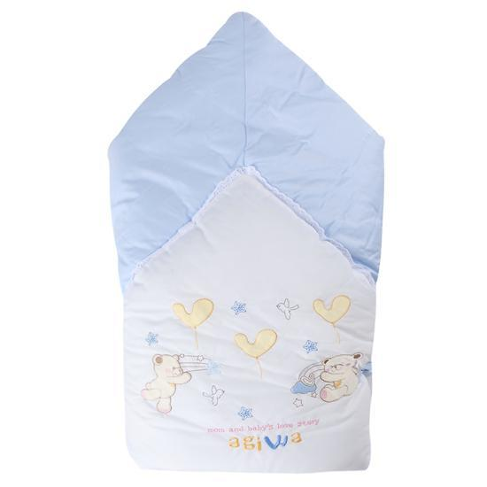 [AC114]겉싸개-아기와자수(블루)