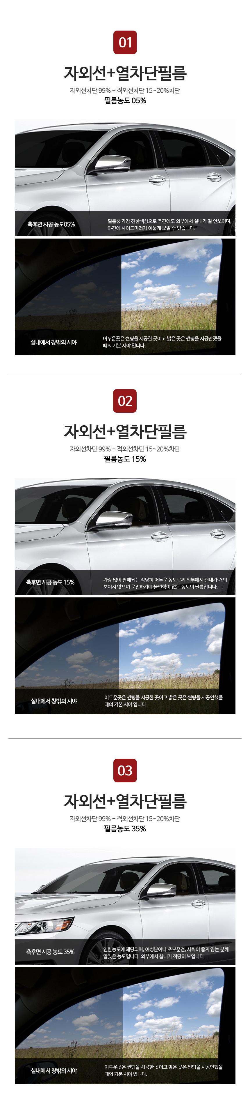 자동차썬팅필름_상품소개
