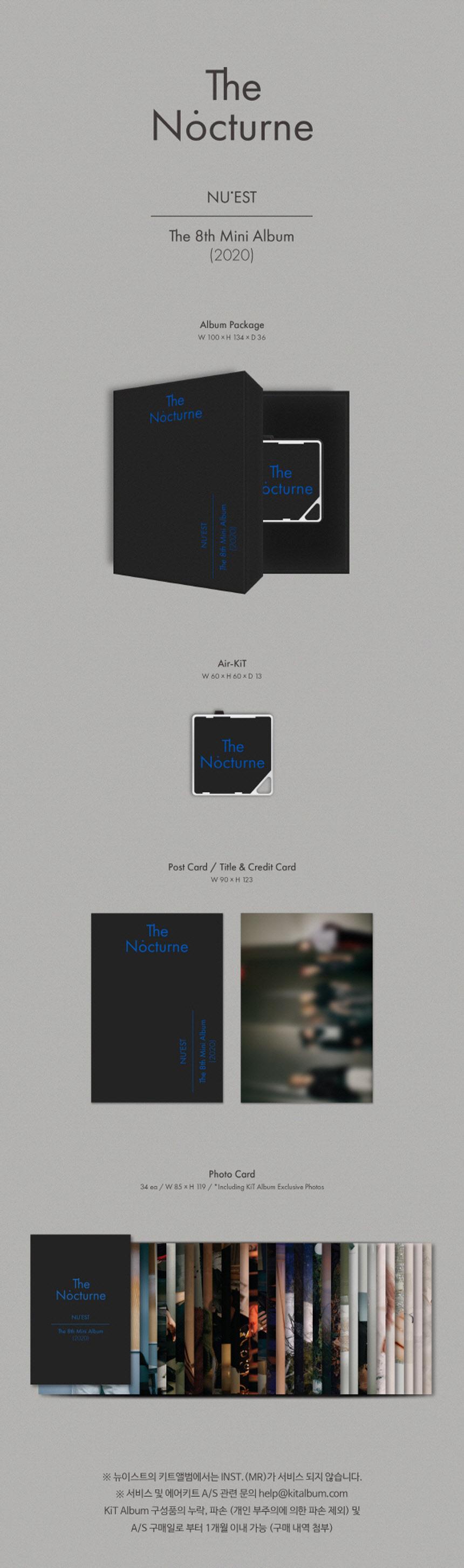 Pre Order Nu Est Mini Album Vol 8 The Nocturne Kit Album