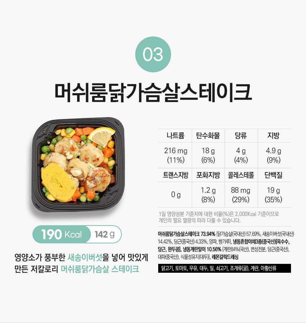 머쉬룸 닭가슴살스테이크