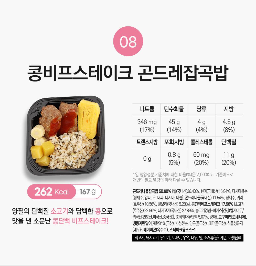 콩비프스테이크 곤드레잡곡밥