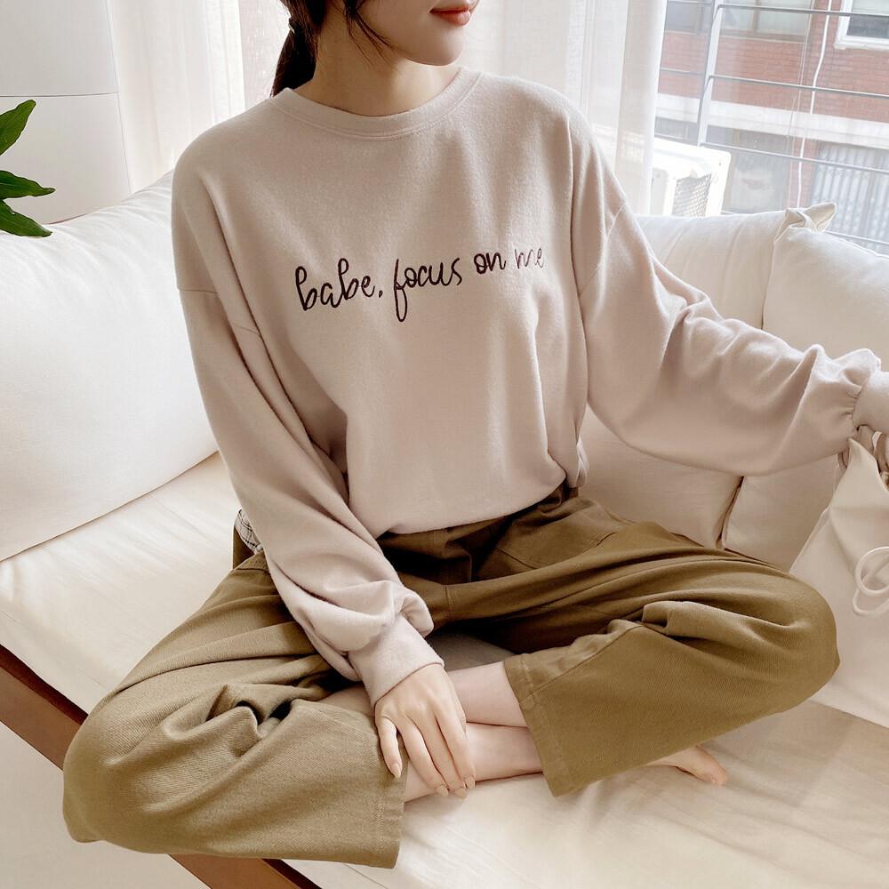 어배리 라운드 베이직 맨투맨 티셔츠