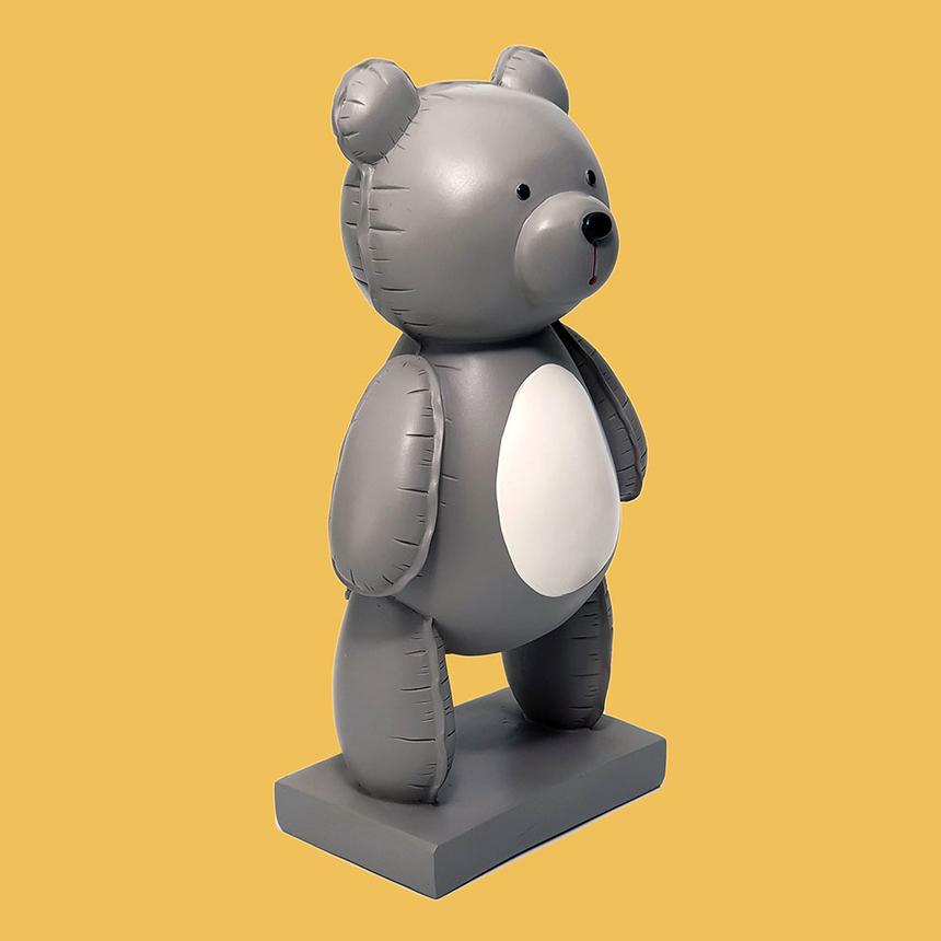 그레이 테디베어 곰돌이 조각상 장식품 감성 인테리어소품 집들이 개업 결혼 신혼 선물 알핀샵