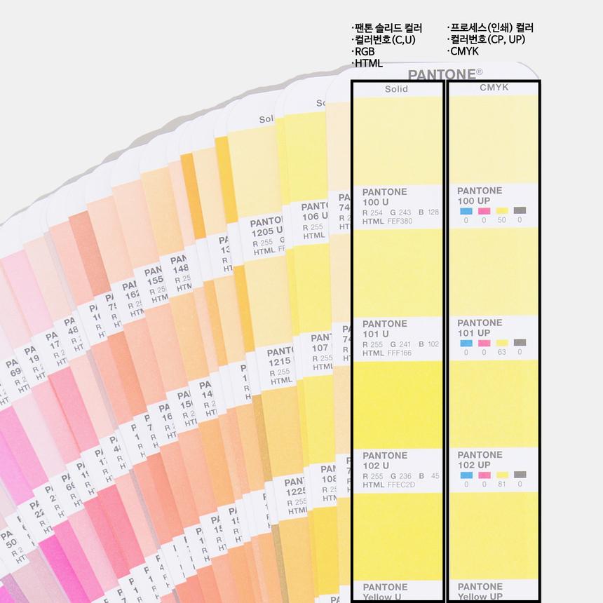 팬톤 컬러와 CMYK 인쇄 칼라북