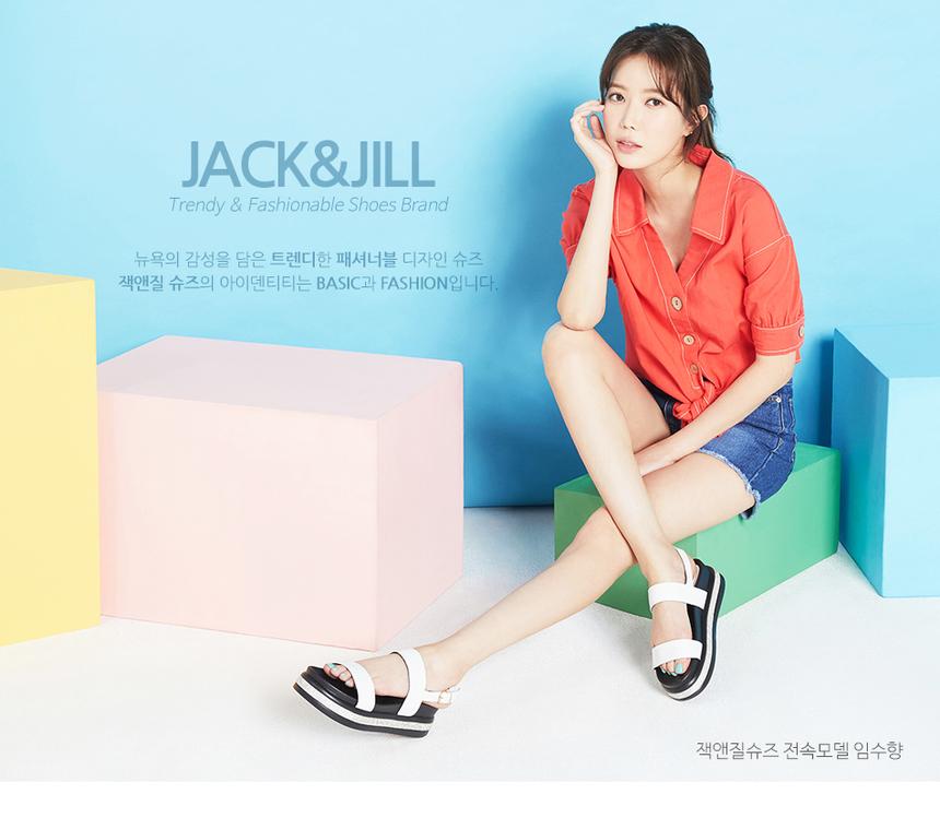Giày sandal nữ đế thấp Jack&Jill JB9351 quai cói độc đáo