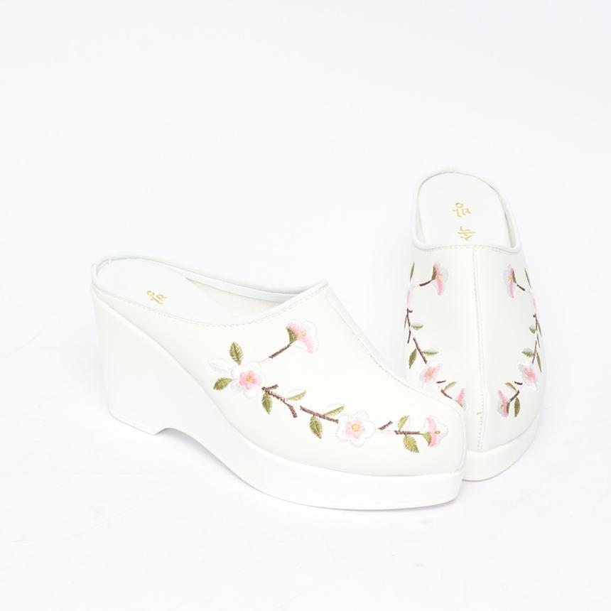 민속방 벚꽃 상굽 한복슬리퍼 (8cm)_3