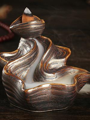 백플로우 뿔향 역류향 콘향 인센스 향꽂이 홀더 받침대 동자승 향로 CH015