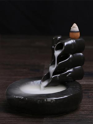 백플로우 뿔향 역류향 콘향 인센스 향꽂이 홀더 받침대 동자승 향로 CH016