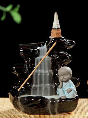 백플로우 뿔향 역류향 콘향 인센스 향꽂이 홀더 받침대 동자승 향로 CH009