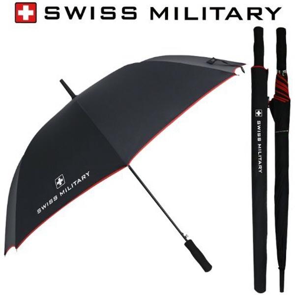 [스위스밀리터리]70자동 레드바이어스 장우산
