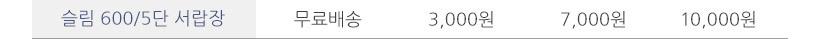 슬림 600 5단 서랍장 - 셀레스타, 76,900원, 협탁/서랍장, 서랍장
