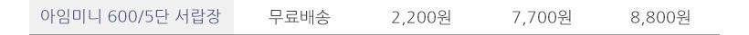 아임미니 600 5단 서랍장 - 셀레스타, 54,900원, 협탁/서랍장, 서랍장