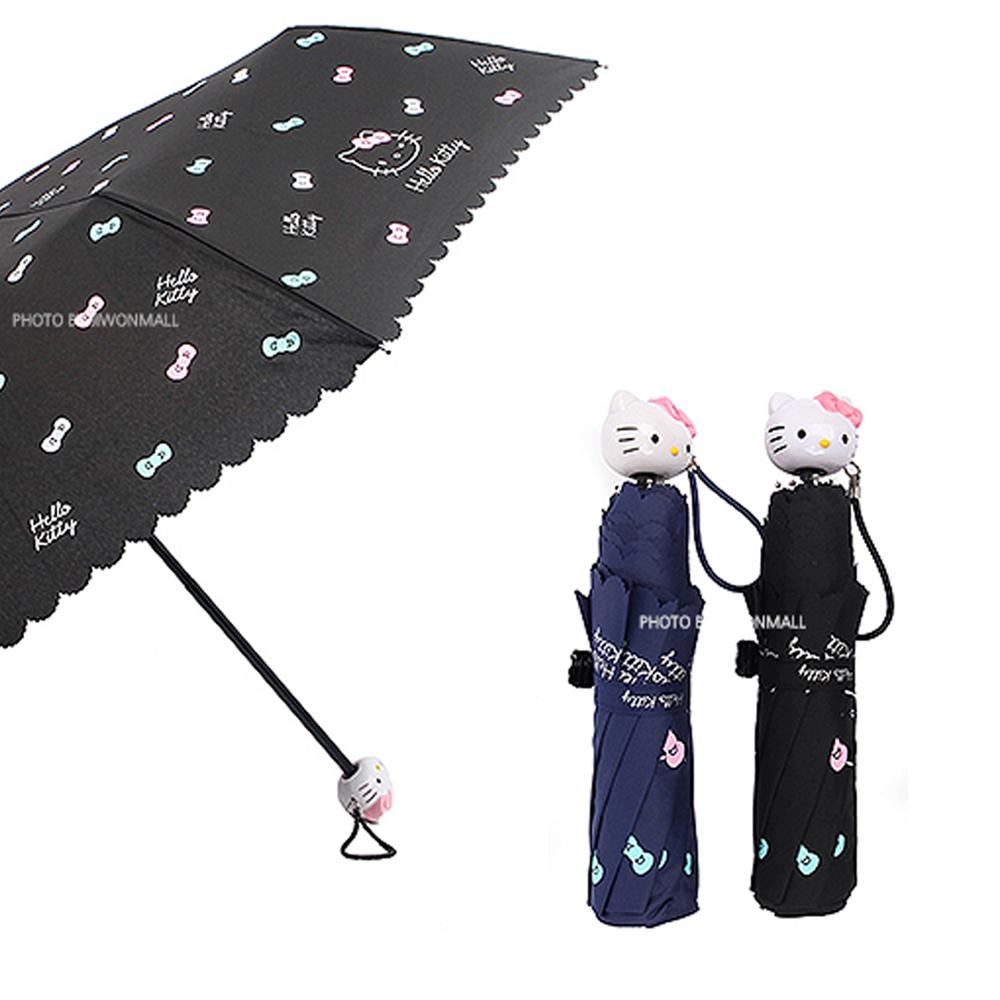헬로키티헬로키티 수동 3단 우산(윙크리본)