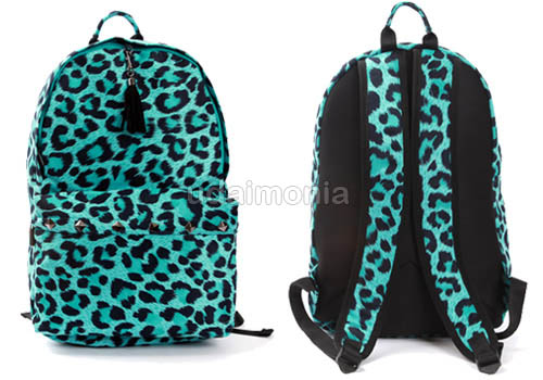Animal Print Backpack Bookbags School Bag