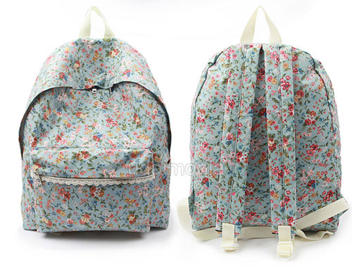 Backpacks Bookbags Bags for Women Ladies Waterproof Floral Flower ...